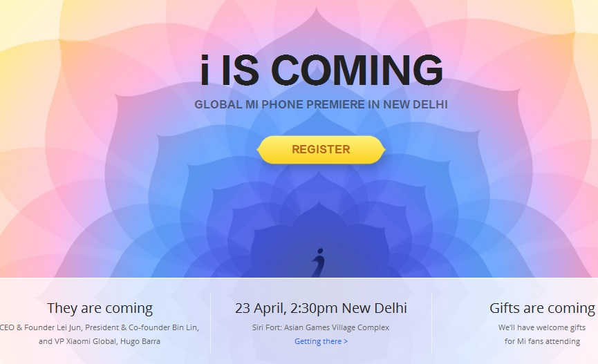 Xiaomi to host 'i IS COMING' event to launch Mi Phone in India on 23 April
