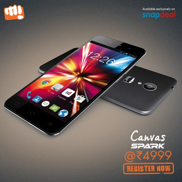 Micromax Canvas Spark Q380 to go on sale for the third time today