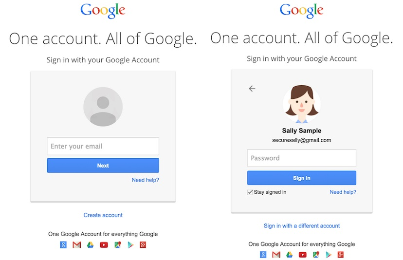 Google revamps Gmail login process with dual page system
