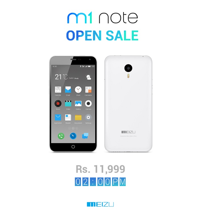 Meizu M1 Note price in India announced, available on Amazon for Rs. 11,999