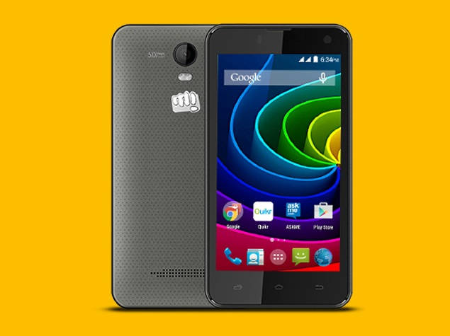 Micromax Bolt Q335 with 4.5 inch screen, 2 MP front camera launching in India soon