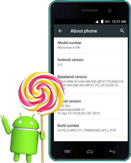Micromax Canvas Unite 2 A106 gets Android 5.0 Lollipop update