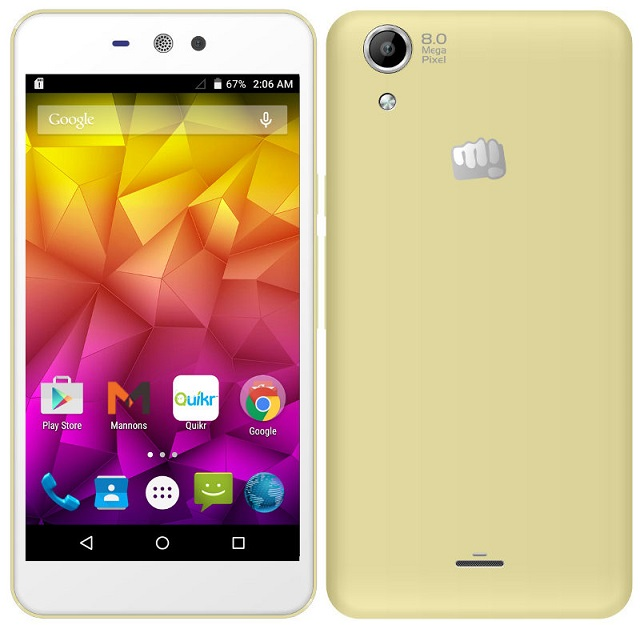 Micromax Canvas Selfie Lens Q345 launched for Rs. 8,299