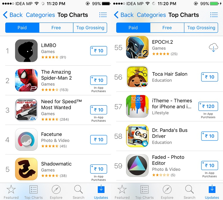 Now you can get 'Apple App Store' Apps in India for Rs. 10