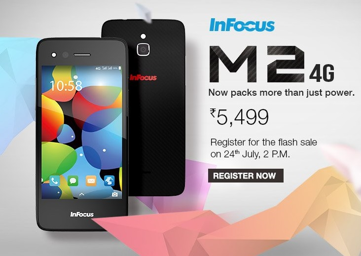 InFocus M2 4G launched in India on Amazon for Rs. 5,499