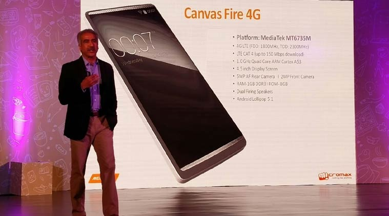 Micromax Canvas Fire 4G announced in India
