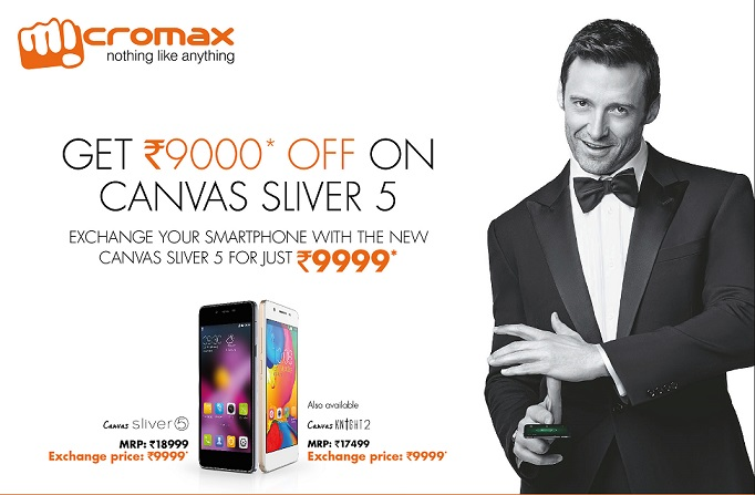 Micromax Canvas Sliver 5 and Canvas Knight 2 available for Rs. 9999 under exchange offer