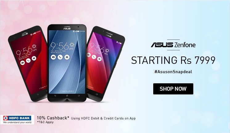 Asus Zenfone smartphone now also available on Snapdeal in India