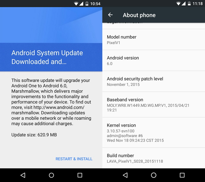 Lava Pixel V1 starts getting Android 6.0 Marshmallow update in India