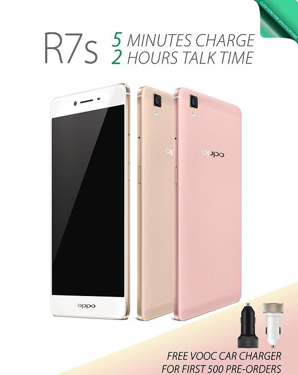 Oppo R7s Rose Gold