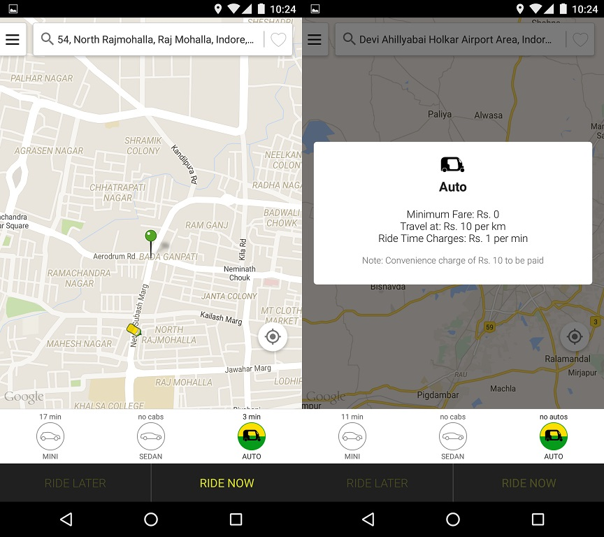 Ola Rickshaw Indore