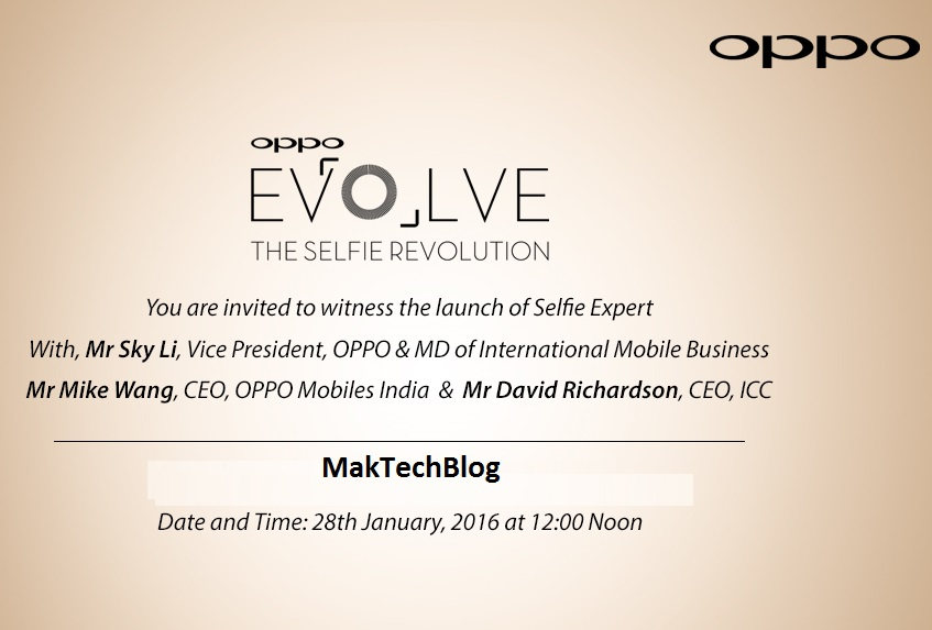 Oppo to launch new F series smartphone OPPO F1 in India later this month