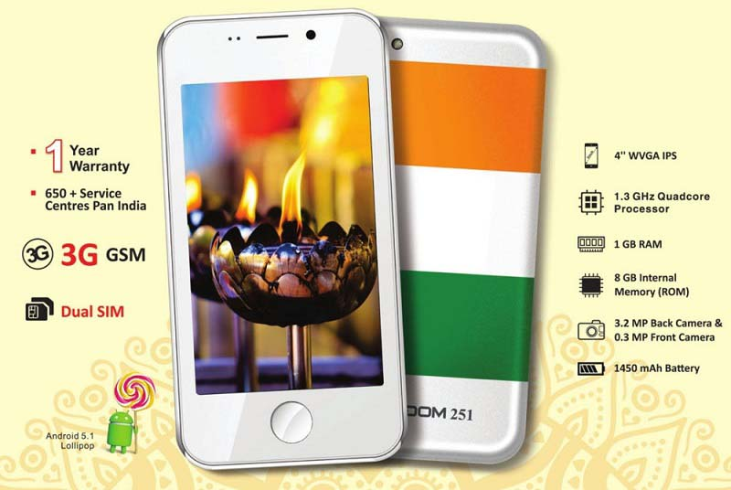 Ringing Bell launches Cheapest smartphone, Freedom 251 for Rs. 251