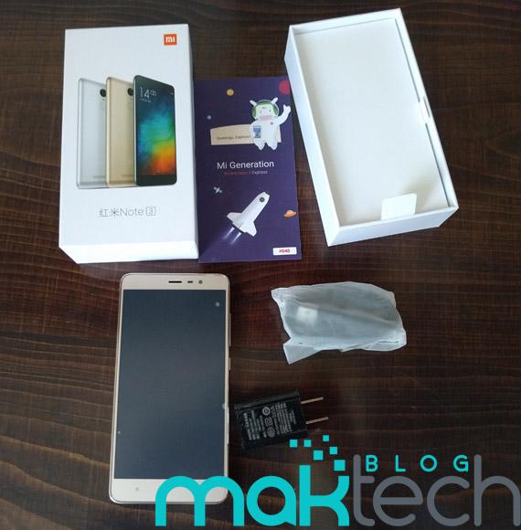 Xiaomi RedMi Note 3 Box Contents