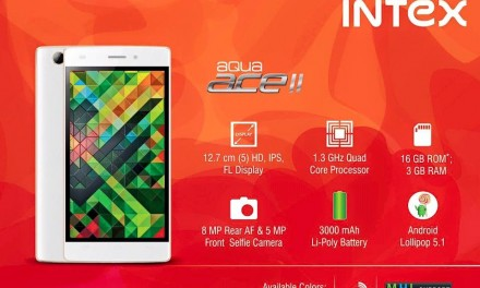 Intex Aqua Ace 2 with 3GB RAM reportedly launched in India for Rs. 8,999