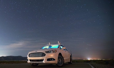 Ford Fusion Autonomous Research Vehicle tested in Pitch Darkness in Arizona