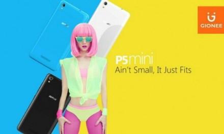 Gionee P5 Mini with 4.5 inch screen, 1GB RAM announced