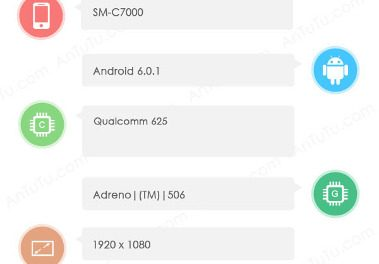 Samsung Galaxy C7 SM-C7000 with 5.7 inch screen imported to India for testing