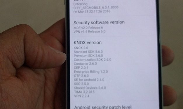 Samsung Galaxy S6 gets April Patch update in India