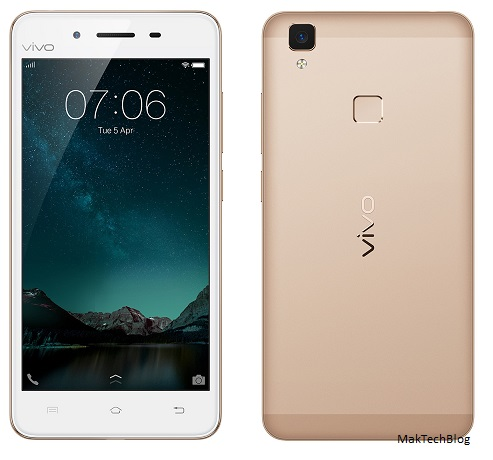 Vivo V3 with 5 inch HD screen launched in India at Rs. 17,980