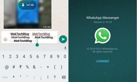 WhatsApp now previews Bold, Italics, Strikethrough formatting in text Editor
