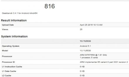 YU YU5530 with 4GB RAM, Helio X10 SoC spotted on benchmark