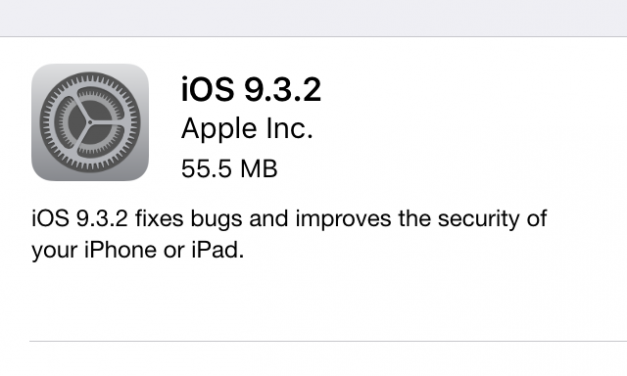 Apple iOS 9.3.2 released for public iPhone, iPad via OTA update