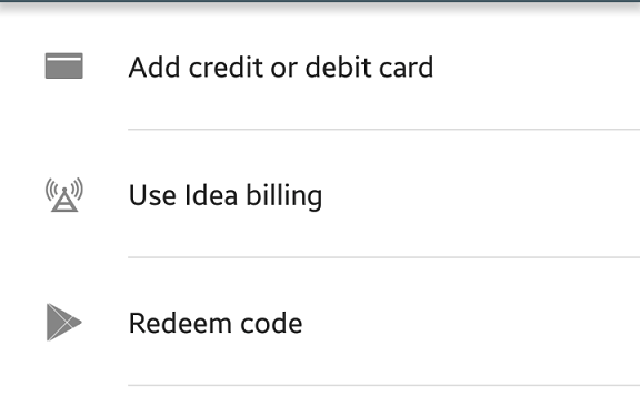 Google Play Store gets limited carrier billing in India with Idea Postpaid