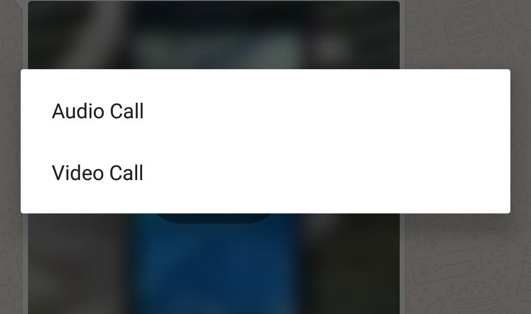 Whatsapp Video call now live in Whatsapp beta v2.16.80