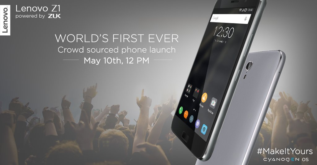 Lenovo ZUK Z1 with CyanogenOS launching in India on 10 May