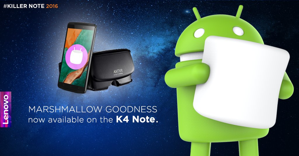 Lenovo K4 Note gets Android 6 Marshmallow update in India