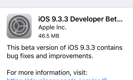 Apple iOS 9.3.3 Beta 2 now out for registered developers