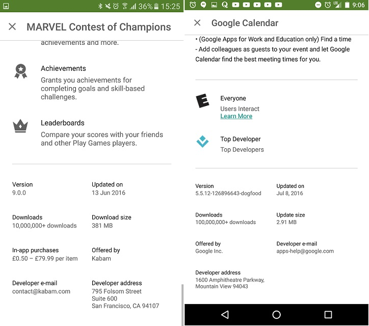 Google Play Delta Algorithm