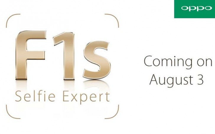 OPPO to launch OPPO F1s smartphone in India on 3rd August