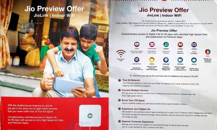 JioLink Indoor WiFi router from Reliance Jio Preview offer surfaced