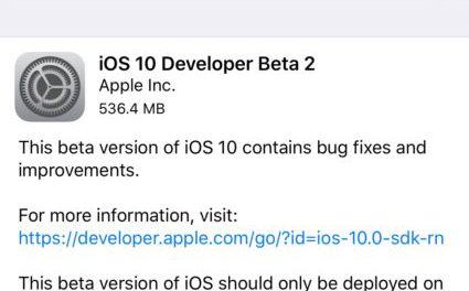 Apple seeds iOS 10 Beta 2 to developers, public beta awaited
