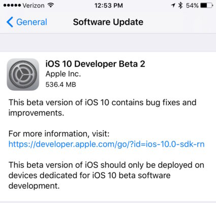 Apple seeds iOS 10 Beta 2 to developers, public beta awaited