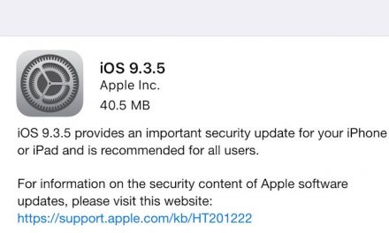 Apple releases iOS 9.3.5 security update for iPhone, iPad and iPod