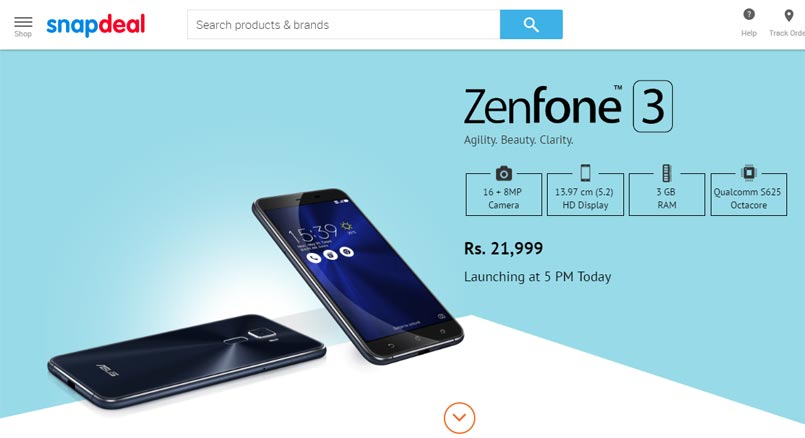 Asus Zenfone 3 Price in India leaked as Rs. 21,999 via Snapdeal