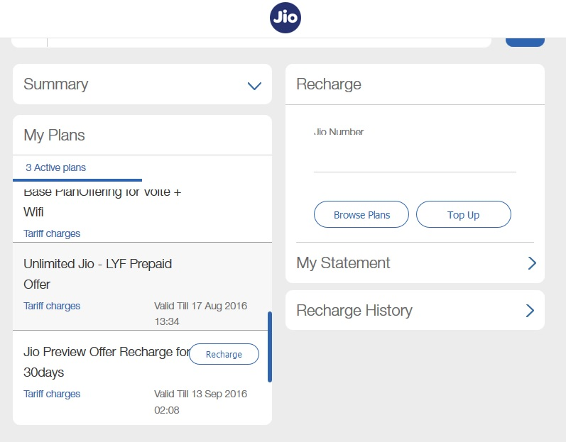 Reliance Jio service extension