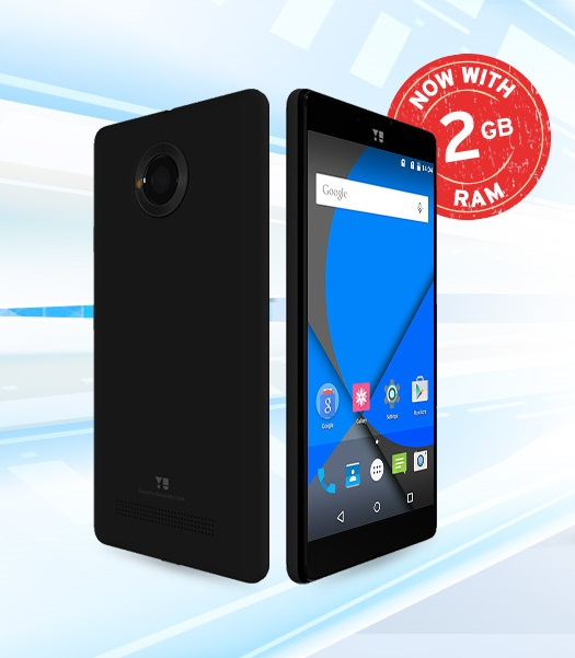 YU YUNIQUE PLUS with 2GB RAM launched in India at Rs. 6,999