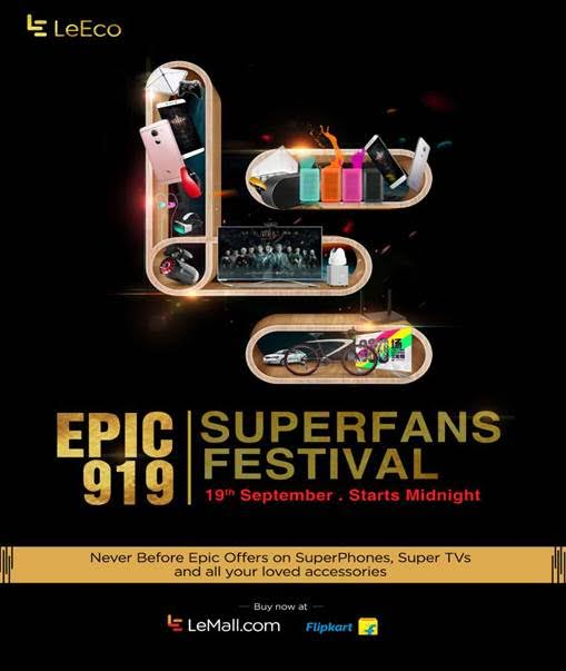 LeEco announces EPIC 919 SuperFans Festival in India on 19 September