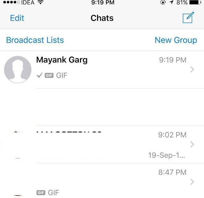 WhatsApp for iPhone and Android gets Animated GIF support