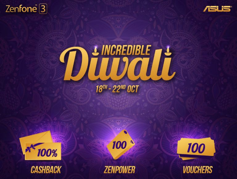 Asus announces Incredible Diwali Offers with 100% cashback and other offers