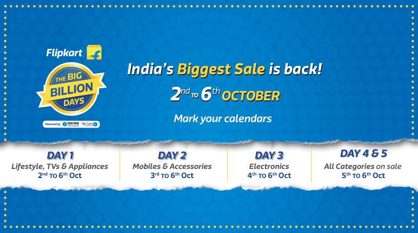 Flipkart Big Billion Days Sale goes live, Check top offers on Day 1