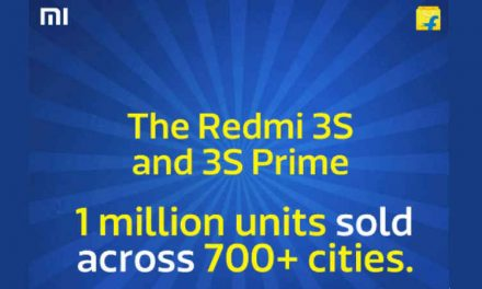 Flipkart claims to have sold One Million Xiaomi Redmi 3S and 3S Prime in India