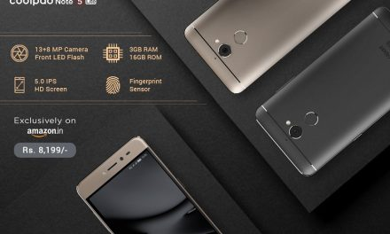 Coolpad Note 5 Lite with 3GB RAM launched in India, priced at Rs. 8199