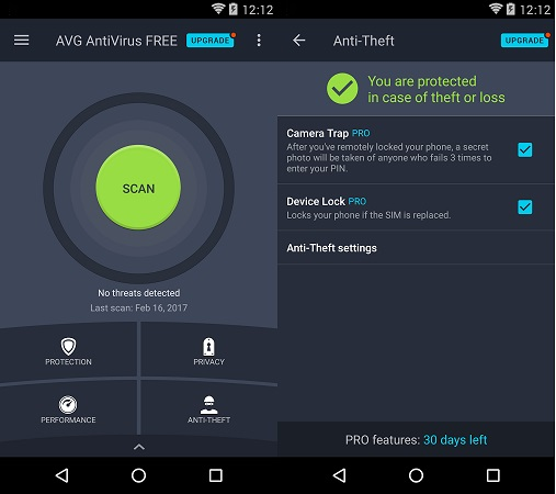 avg antivirus free android