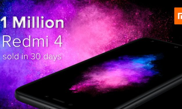 Xiaomi sells 1 Million units of Xiaomi Redmi 4 in India in 30 days