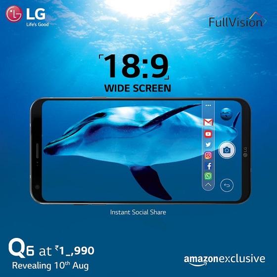 LG Q6 Teaser India